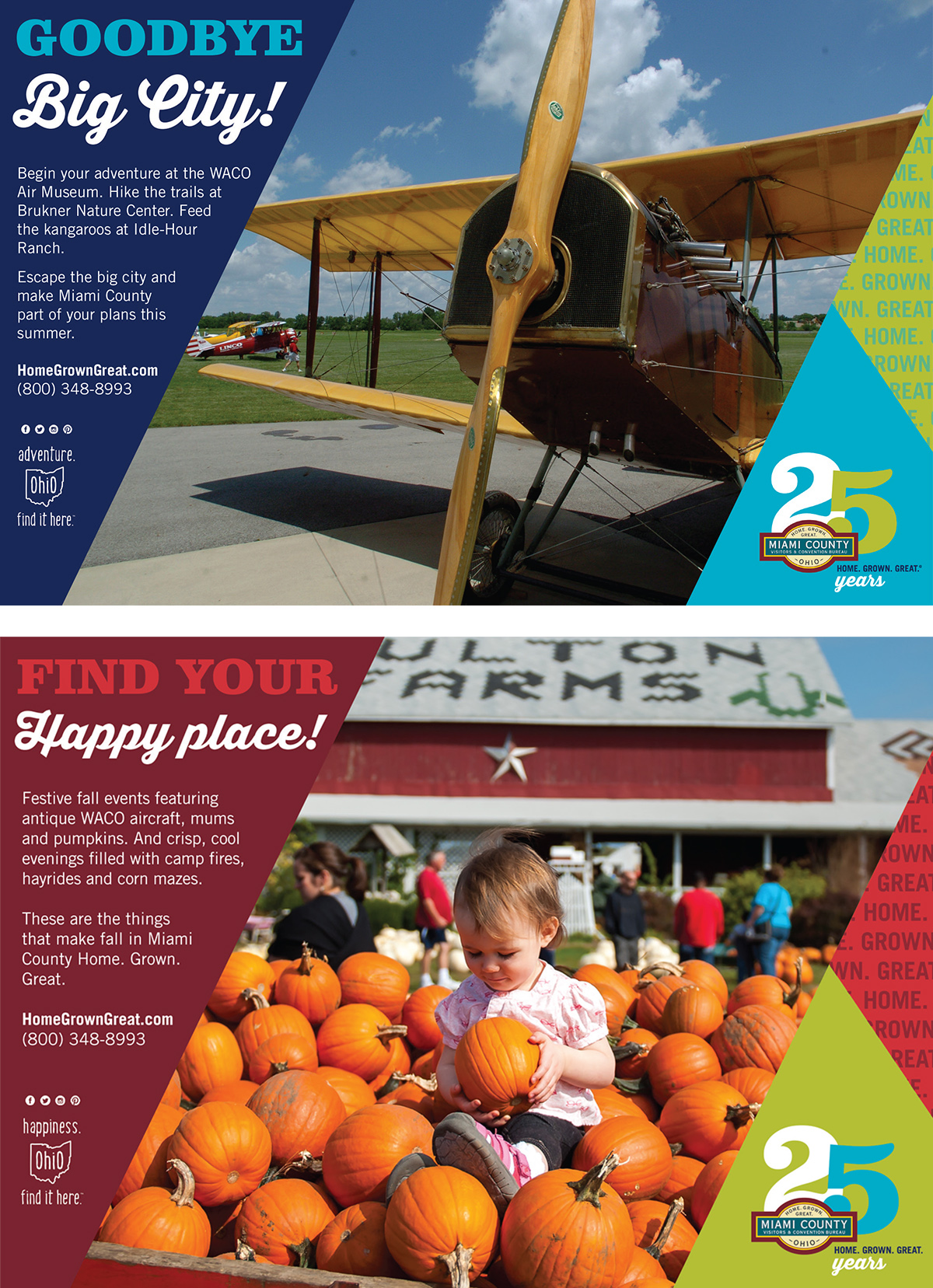 Miami County Visitors and Convention Bureau ad series