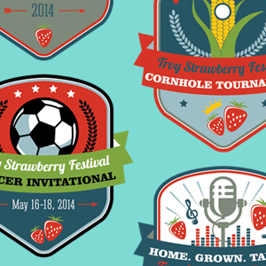 2014 Troy Strawberry Festival logo series